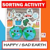 Happy Earth Sad Earth Sorting Activity - Earth Day Craft