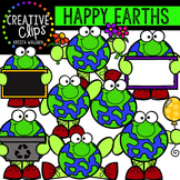 Happy Earths {Creative Clips Digital Clipart}