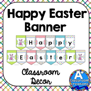 graphic about Easter Banner Printable called Delighted Easter Banner