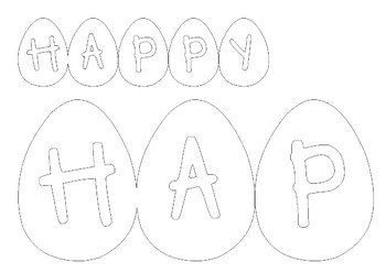 Happy Easter Banner - egg shape