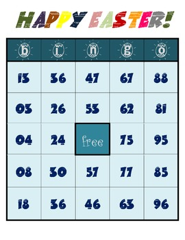 Happy Easter - Bingo Game Worksheets