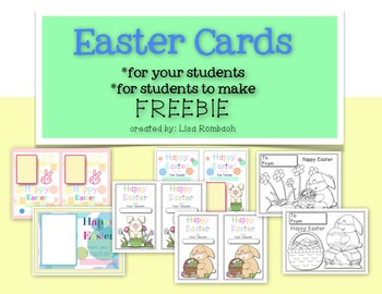 Happy Easter Cards FREEBIE