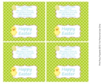 Happy Easter Chick Treat Bag Toppers
