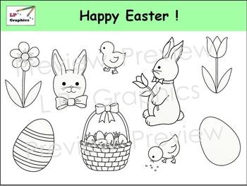 Happy Easter! Clip Art