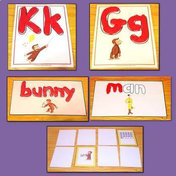Happy Easter Curious George Literacy and Math Center Activities