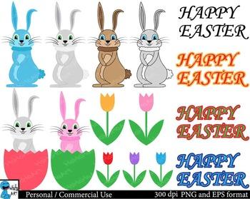 Happy Easter Digital Clip Art Graphics 58 images cod132