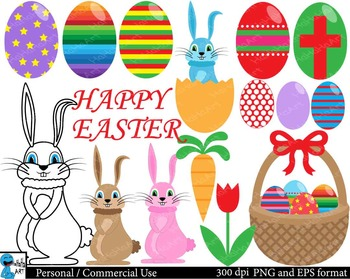 Happy Easter Digital Clip Art Graphics 58 images cod132
