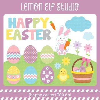 Happy Easter-Digital Clipart (LES.CL23)