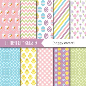 Happy Easter-Digital Paper (LES.DP23)
