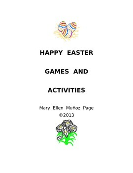 Happy Easter ESL/ELA Games and Activities