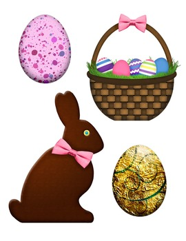 Happy Easter! Easter Candy Clip Art Digital Clipart Color