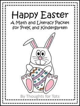 Happy Easter FREE VERSION, Math and Literacy Packet for PreK and Kindergarten