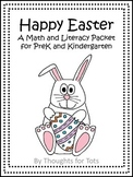 Happy Easter, Math and Literacy Packet for PreK and Kindergarten