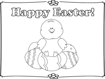Happy Easter Mini Book and Coloring Pages