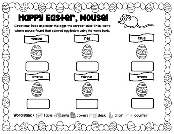 Happy Easter Mouse Book Activity