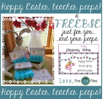 Happy Easter Peeps! Treat Label FREE