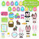 Happy Easter Photo Booth Props and Decorations - Printable