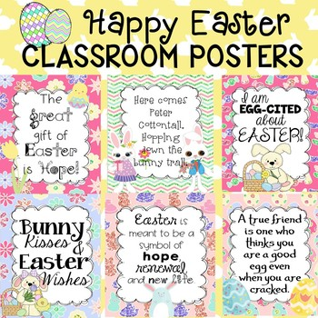 Happy Easter Poster Set for the Classroom