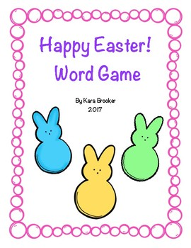 Happy Easter Word Game