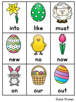 Sight Word Fluency Easter