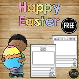 Happy Easter Writing Paper, Writing Center Kindergarten, First Grade