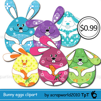Happy Easter bunnies eggs clipart multicolor MEGA SALE 8png