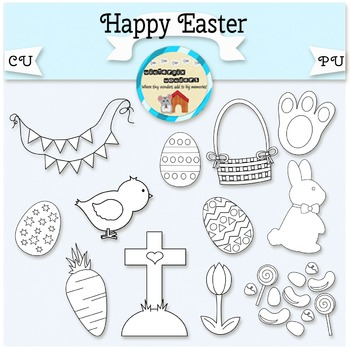 Happy Easter - bunny - holiday - candy - chick - easter egg