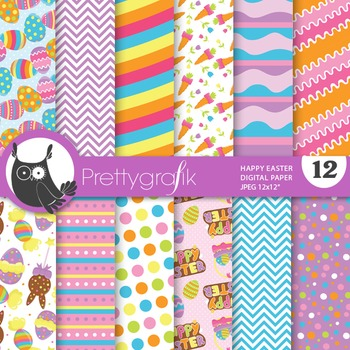 Happy Easter digital paper, commercial use, scrapbook papers - PS703