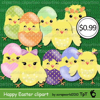 Happy Easter funny chick clipart vector graphics commercia