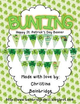 St. Patrick's Day Bunting Banner