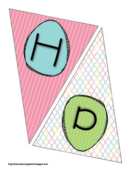Happy Easter or Spring Bunting Banner