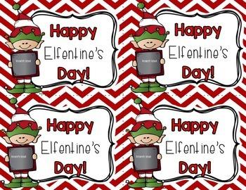 Happy Elfentine's Day Editable Tag (Valentine's Day)