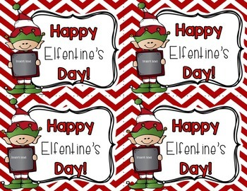 Happy Elfentine's Day Editable Tag (Valentine's Day)