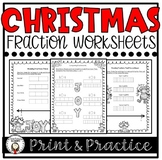 Christmas Fraction Worksheet Bundle