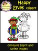 Happy Elves Clip Art / Christmas (School Designhcf)