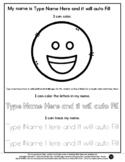Happy Emoji - Name Tracing & Coloring Editable Sheet - #60