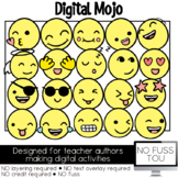 Happy Emojis Clipart NO FUSS TOU Moveable Clipart for Digital