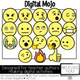 Emojis Clipart Set 2 NO FUSS TOU Moveable Clipart for Digi