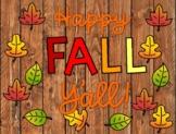 Happy FALL Y'all Bulletin Board Set and Writing Craftivity