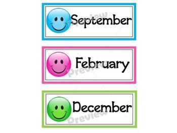 Happy Face Calendar Cards