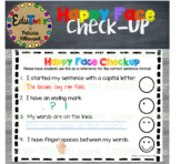 Happy Face Checkup: Writing Mini Anchor Chart