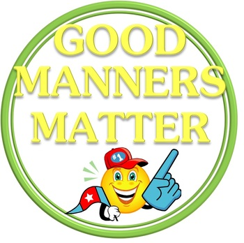 Happy Face Good Manners Matter Smiley Emoticon Character Large Visuals/Posters
