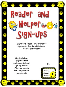 Smiley Face, Happy Face Helper and Reader Signs