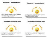 Happy Face Homework Pass