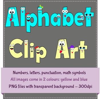 Happy Face Alphabet Letter Clip Art