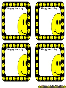 Smiley Face, Happy Face Name Plates