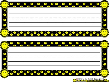 Smiley Face, Happy Face Name Tags