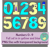 Happy Face Number Clip Art