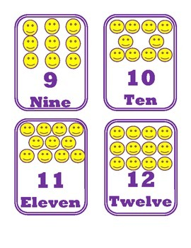 Happy Face Number FlashCards