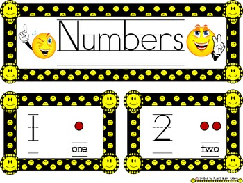 Smiley Face, Happy Face Number Wall